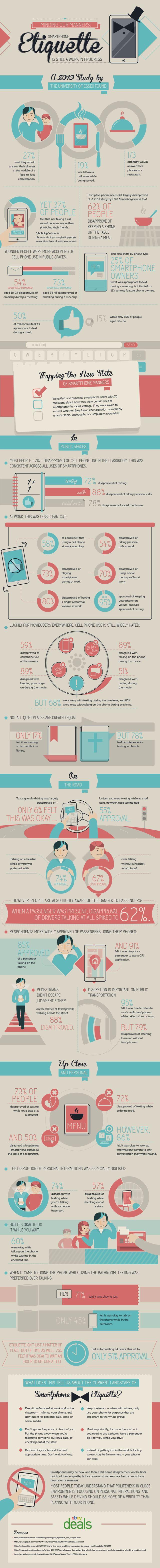 Infografía que nos enseña a hacer un uso educado del móvil