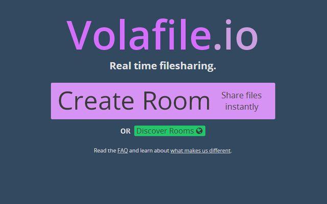 Volafile, crea y descubre salas de chat para compartir archivos de forma anónima