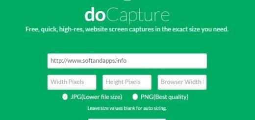 doCapture: utilidad online para tomar screenshots de sitios web