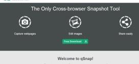 qSnap: toma screenshots de sitios web, edítalos y compártelos