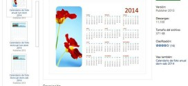 Calendarios 2014 imprimibles para Microsoft Office