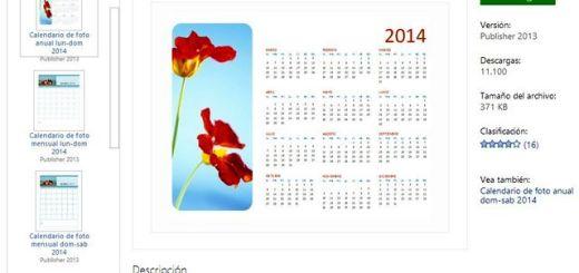 Calendarios 2014 imprimibles para Microsoft Office