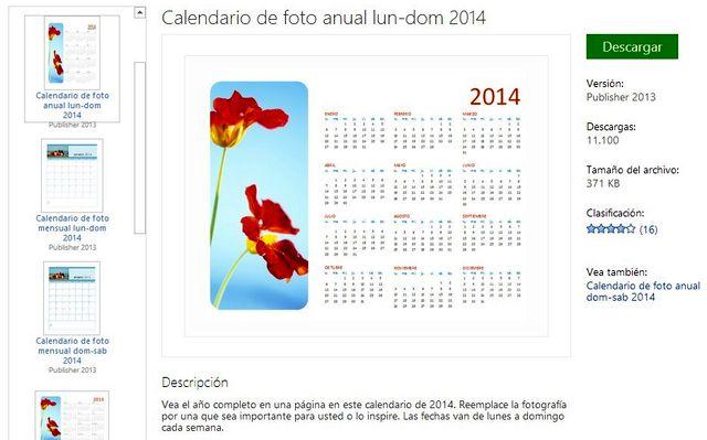 Calendarios 2014