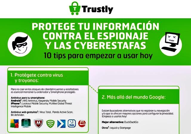 Consejos evitar espionaje en internet
