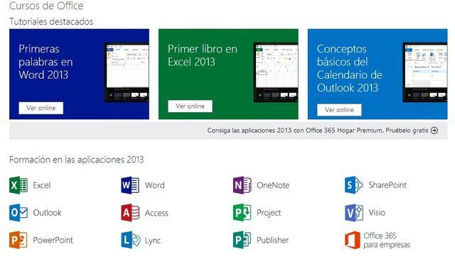 Colección de tutoriales y cursos de Microsoft Office