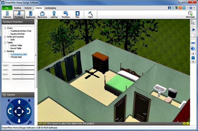 Dreamplan home design crea planos 3d para interiorismo y for Software decoracion interiores 3d