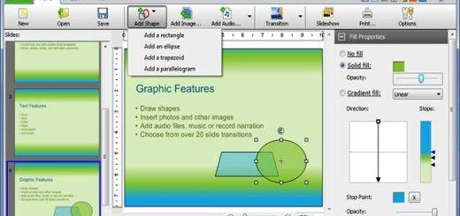 Express Points Presentation, software gratis para crear presentaciones