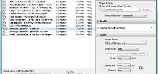 Free FLV to MP3, convierte vídeo flash a mp3 o wav