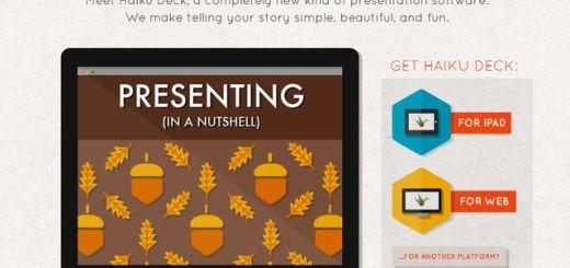 Haiku Deck, aplicación web para crear bellas presentaciones