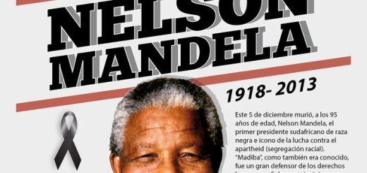 Adiós Nelson Mandela, infografía tributo a este histórico personaje