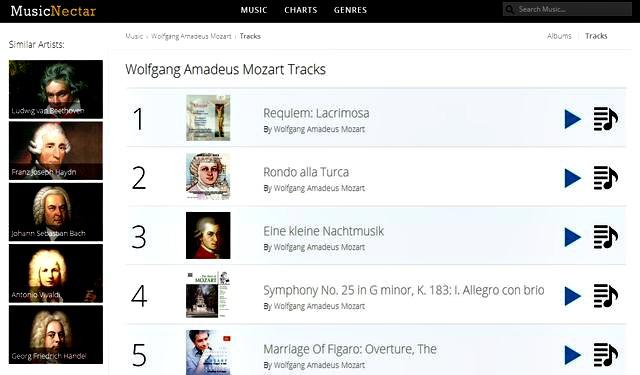 MusicNectar, otra opción web para escuchar música online