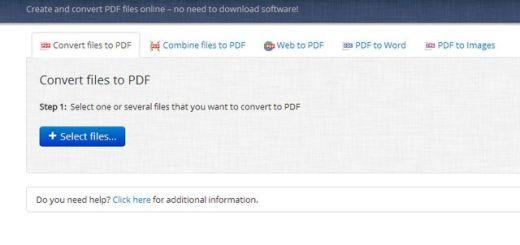 PDF Burger, varias utilidades web para trabajar con archivos PDF