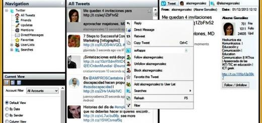 SharedMinds Desktop, buen cliente Twitter de Escritorio para Windows