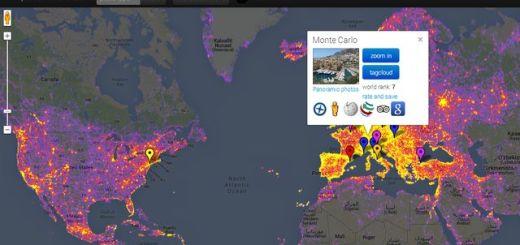 Sightsmap, mapa que nos muestra los sitios más fotografiados del mundo