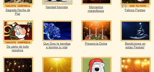 Más de 250 tarjetas navideñas para enviar online