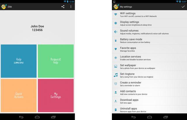 Zikk, aplicación gratuita de asistencia remota en Android