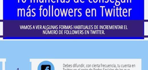 10 consejos para ganar más followers en Twitter (infografía)