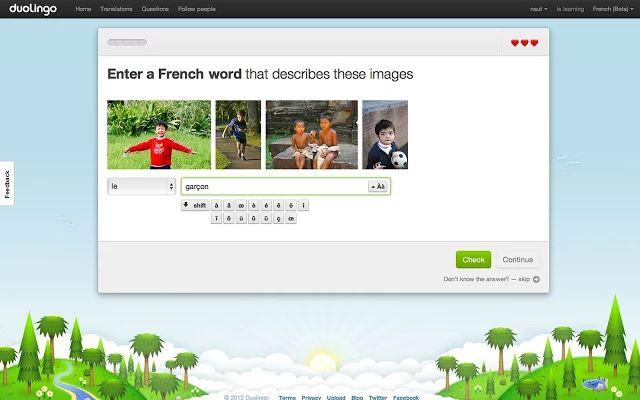 Extensión de Duolingo para Chrome para aprender idiomas