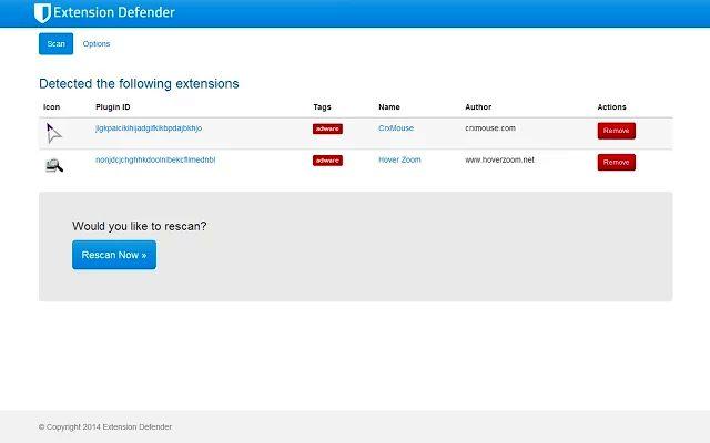 Extension Defender, analiza Chrome en busca de extensiones con malware