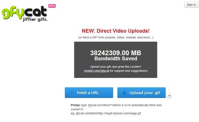 Gfycat, utilidad web que convierte gifs animados en vídeos HTML5