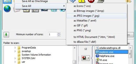 Icons from File, software gratuito para extraer iconos