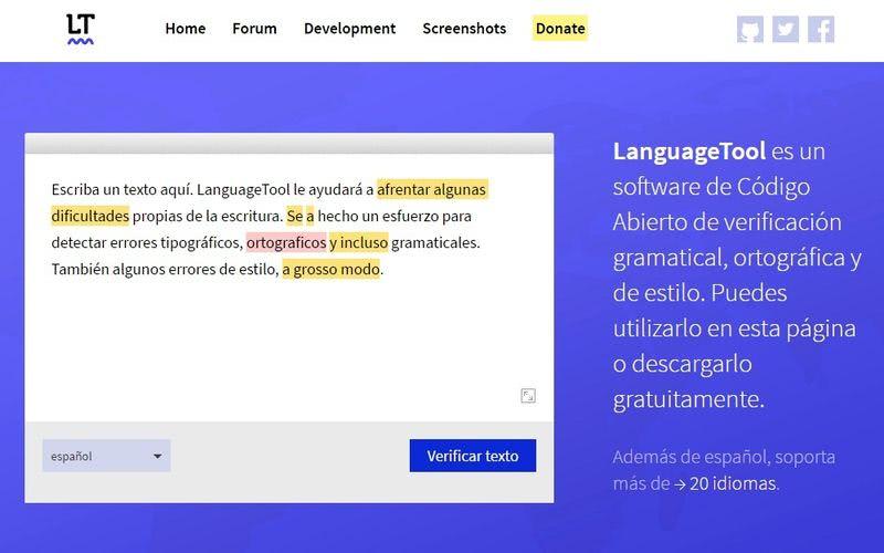 LanguageTool - corrector ortográfico y gramatical