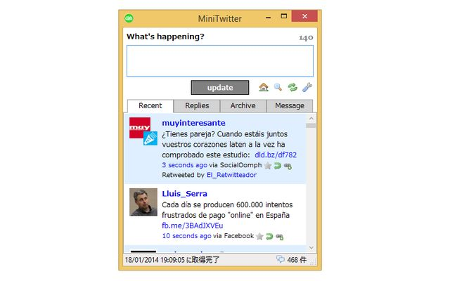 MiniTwitter, pequeña app de Escritorio para adictos a Twitter