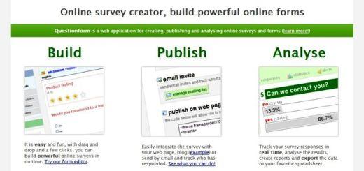 QuestionForm, crea encuestas gratis para tu web o blog
