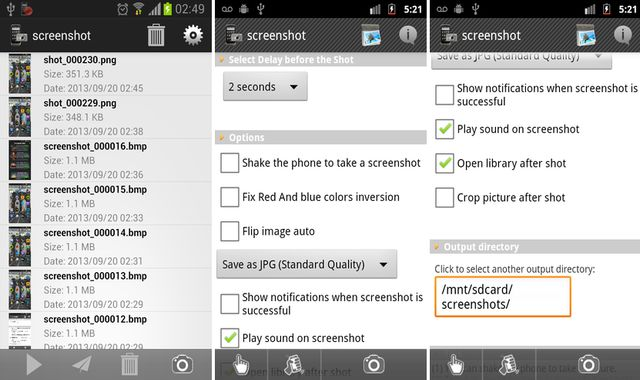 Screenshot, app Android para tomar screenshots sin ser root