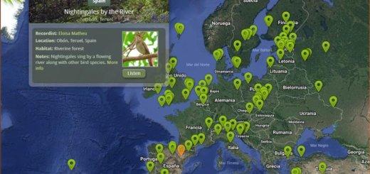 Sonidos de la Naturaleza en Nature Soundmap