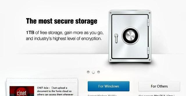 Yunio, 1 Tb de almacenamiento online gratis para tus archivos