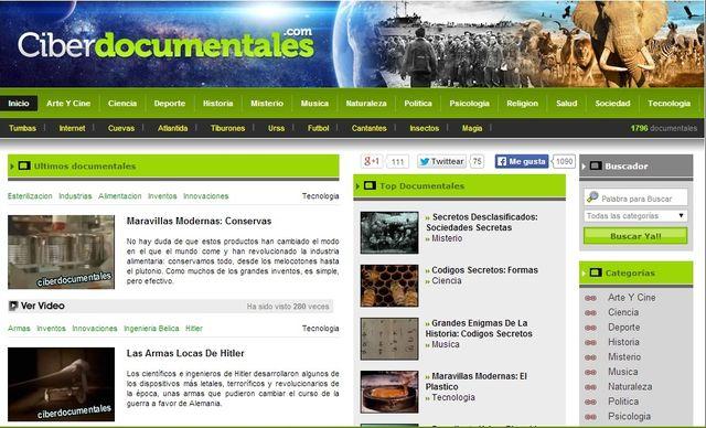 Ciberdocumentales, cerca de 2000 documentales para ver en línea