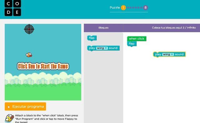 Code.org nos enseña a programar creando un clon de Flappy Bird