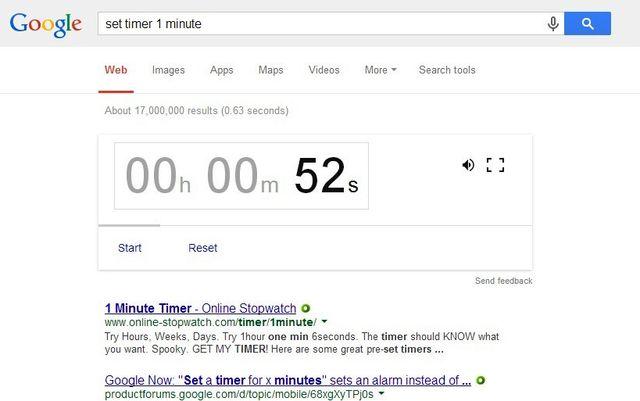 Cuenta atras en Google