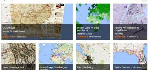 Google Maps Gallery, comparte o descubre mapas con contenidos interesantes