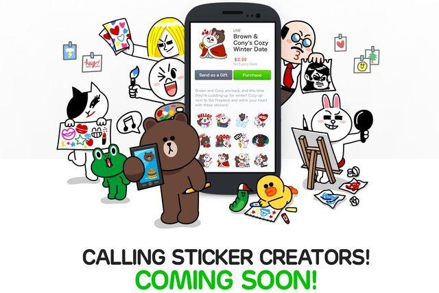 Line Creators Market, pronto podremos vender nuestros stickers en LINE