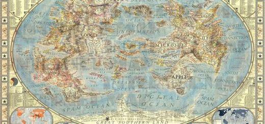 Impresionante mapamundi de internet creado por un diseñador gráfico