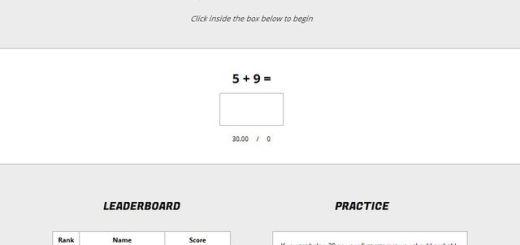 Speedsums, juego matemático para realizar operaciones básicas de memoria