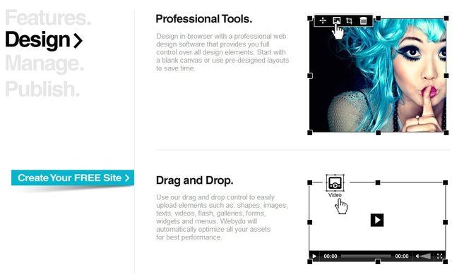 Webydo, plataforma online gratuita para crear sitios profesionales sin programar