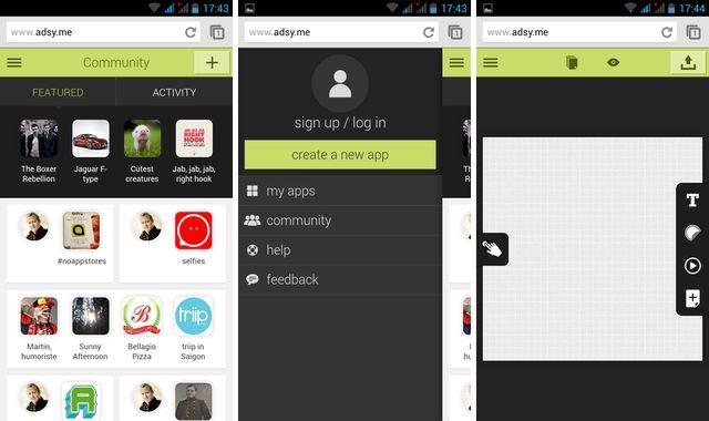 Adsy, crea apps HTML5 sin programar desde el navegador de tu móvil