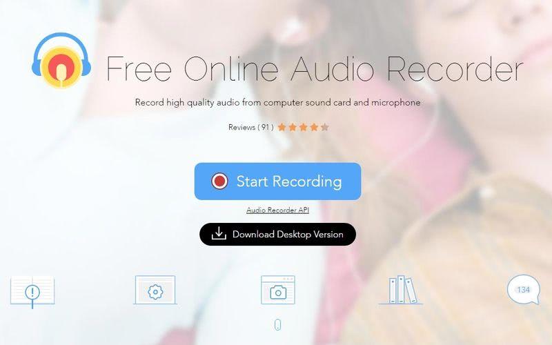 Apowersoft: utilidad web o de Escritorio para grabar audio