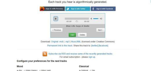 Computoser: aplicación web para generar música Creative Commons