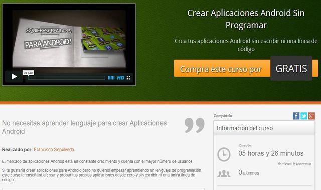 Curso gratis para aprender a crear aplicaciones Android