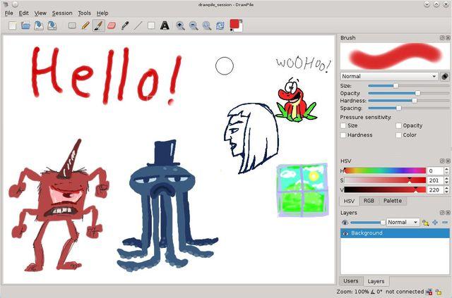 DrawPile, alternativa a Paint que permite la edición colaborativa remota