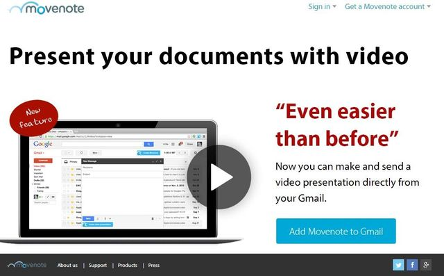 Movenote, comparte presentaciones y documentos con vídeo explicativo