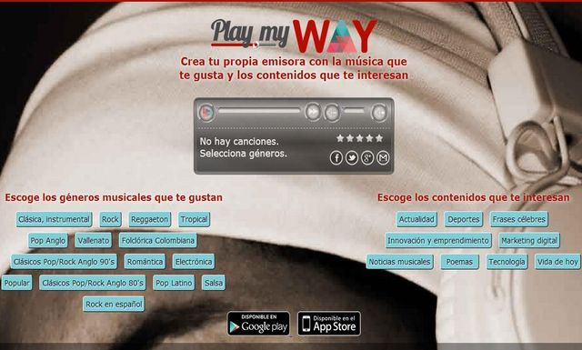 Play My Way Play My Way, crea tu radio online con música y contenidos de actualidad
