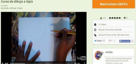Curso gratuito de dibujo a lápiz en 21 lecciones en vídeo
