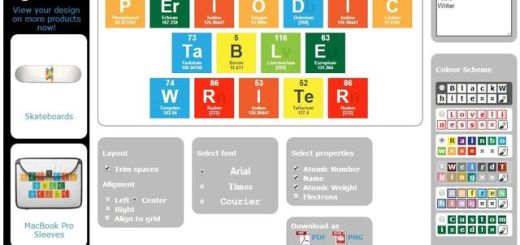 Periodic Table Writer, web que convierte textos en una tabla periódica