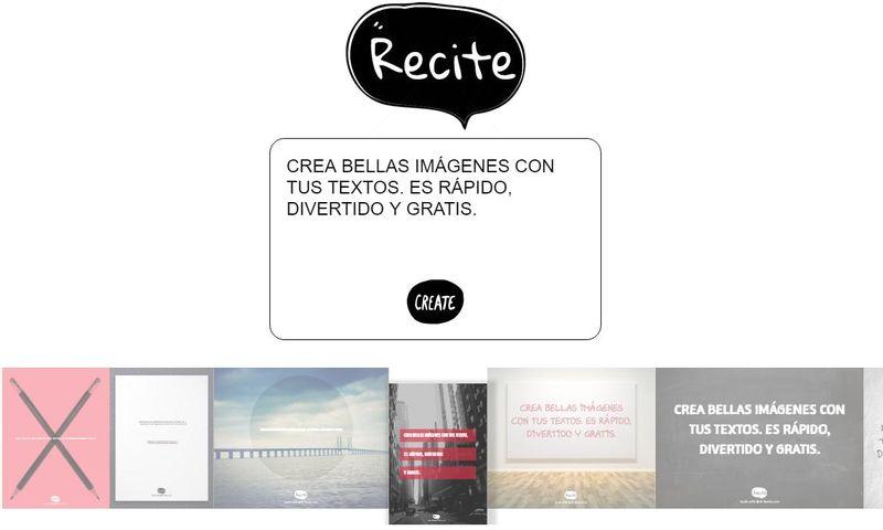 Recite: crea bellas imágenes con texto para compartir en la red