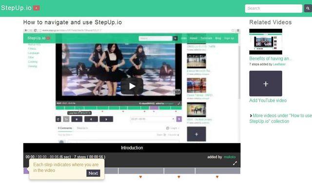 StepUp, utilidad web para dividir vídeos y compartir los fragmentos